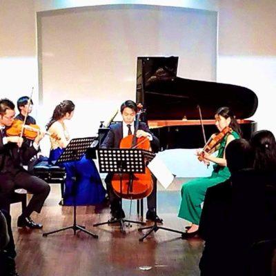 Piano Quartet in Tokyo 2019. Nao Tohara (Violine), Eri Sugita (Viola), Haruma Sato (Cello)