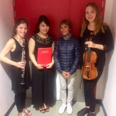 Chamber Music in Tignes, France 2018. Marta Xavier (Clarinet), Anna Bougie (Viola)