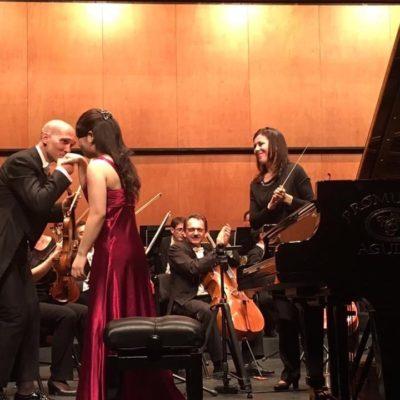 Mozart Piano Concerto K.488 with Murcia Orchestra in Águilas , Spain (2017)