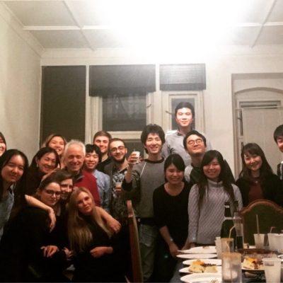 Classmates with my Prof. Pascal Devoyon (Berlin, 2019)