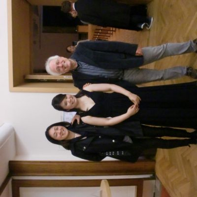 After the concert with my Prof. Pascal Devoyon and Rikako Murata, Berlin 2013