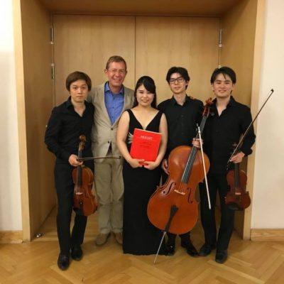 With Mr. Frank-Immo Zichner. Piano Quartet with Issei Kobayashi (Violine), Tomohiro Arita (Viola), Jakob Seel (Cello)